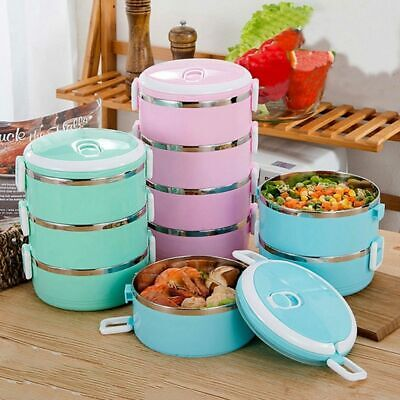 AU16.19 • Buy 1x Stainless Steel Insulated Lunch Box Leak-proof Thermos,Camping Food Container