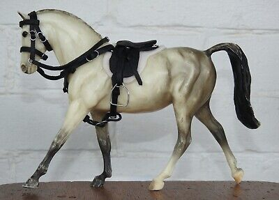 £27.99 • Buy Handmade Black Leather Saddle Bridle 1:12 Scale Classic Breyer Horse Not Incl.