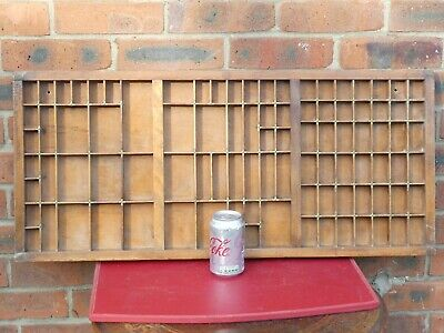 AU137.93 • Buy Antique Wood Collector's Printers Tray Cabinet Various Sized Holes 32  X 14  #2
