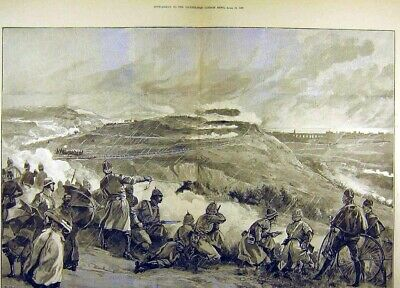 £20 • Buy Old Antique Print 1882 Volunteer Review Portsmouth Corps Attack Portsdown 19th