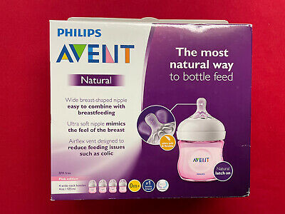 AU26.50 • Buy Philips Avent Baby Bottles; 4 Pink 4 Ounce Wide-neck Bottles; Ultra Soft Nipples