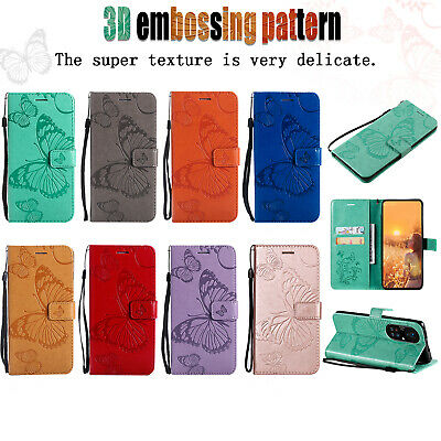 AU10.42 • Buy For OPPO F11 Pro A52 A72 A83 Butterfly Pattern PU Leather Flip Wallet Case Cover