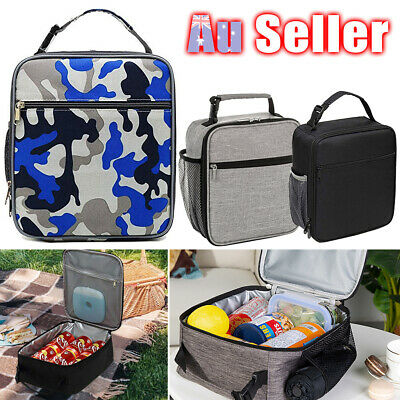 AU16.45 • Buy Insulated Lunch Bag Adult Kids Lunch Box School Picnic Food Storage Cool Bag