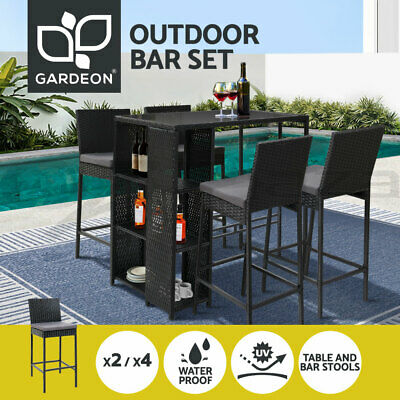 AU169.95 • Buy Gardeon Outdoor Bar Table And Chairs Furniture Dining Chairs Wicker Patio Set