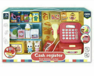 £15.99 • Buy Large Cash Register Till & Shopping Trolley Kids Role Play Toy Set Children's