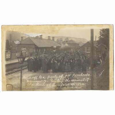 £59.95 • Buy LAMPETER Send Off To 1st Pembrokeshire Yeomanry At Railway Station RP Postcard