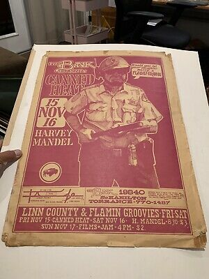 $400 • Buy Canned Heat THE BANK TORRANCE ORIGINAL POSTER 1968 RARE !!!! Rock & Roll 60's
