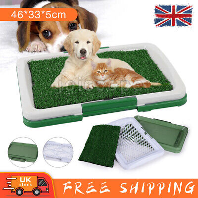 £10.79 • Buy PET Dog Toilet Mat Indoor Restroom Training Grass Potty Pad Loo Tray Large Puppy