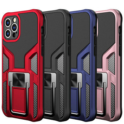 AU12.79 • Buy For IPhone 13 Pro Max 12 11 XR XS 8 7 Magnetic Armor Hard Case With Ring Stand