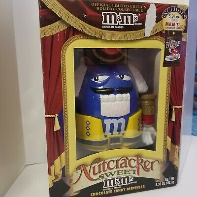 £27.53 • Buy Blue M And M Nutcracker Christmas Chocolate Candy Dispenser Limited Edition M&Ms