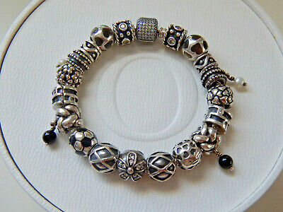 AU50 • Buy CHOICE Of ASSORTED Genuine PANDORA Silver And Black CHARMS