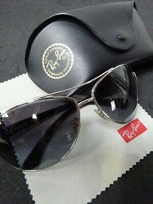AU46.34 • Buy Ray-Ban RB3386 Men's Sunglasses 003/8G 130 3N Silver W/Case & Cleaning Cloth