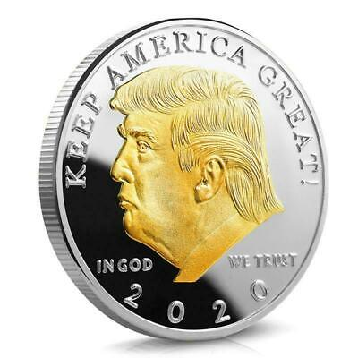 AU9.46 • Buy 2020 Donald J. Trump Of The United States Commemorative Badge Souvenir Coin Gift