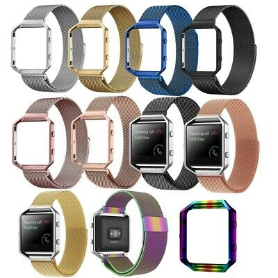 AU11.98 • Buy Stainless Steel Magnetic Milanese Band Strap Case Frame For Fitbit Blaze Watch