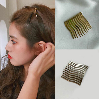 AU3.04 • Buy Women Metal Comb Hair Clips Seamless Wave Insert Comb Gold Claw Hair Accessories