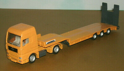 £21.73 • Buy 1/87 HO Scale Man TGA With Low Loader Trailer Diecast Truck (7.5 ) Siku Yellow