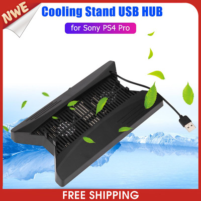 AU24.88 • Buy Vertical Stand Cooling Fan Dock W/3 SB HUB For Playstation PS4 Pro Console