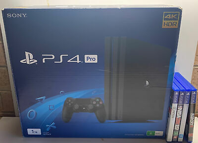 AU599.99 • Buy Sony PlayStation 4 PRO Boxed 1TB Console With Controller & 4 Games. PS4