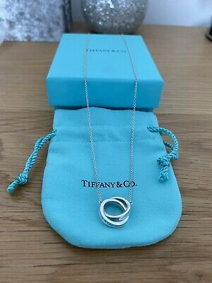 £200 • Buy Genuine Tiffany And Co 1837 Interlocking Circles Pendant In Box And Pouch