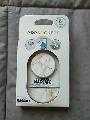 AU33.67 • Buy Popsockets Popgrip For Magsafe Gold Lutz Marble