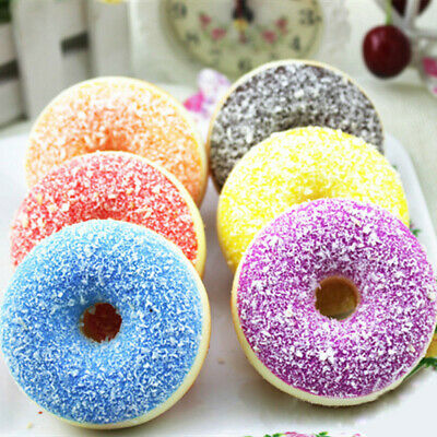 AU9.99 • Buy Donut Squeeze Stress Reliever Soft Colourful Doughnut Scented Slow Rising Toy.