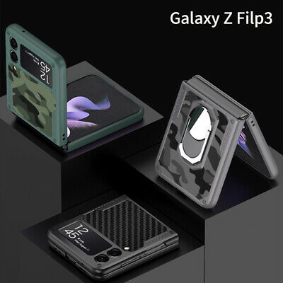 AU24.99 • Buy Camouflage Shockproof Phone Case Cover For Samsung Galaxy Z Flip 3 Stand Holder
