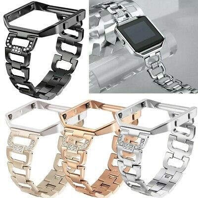 AU23.03 • Buy Luxury Women Stainless Steel Band Strap Metal Frame Cover For Fitbit Blaze Watch