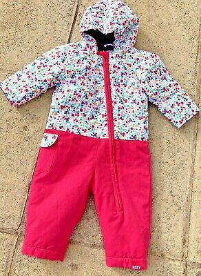 £29.99 • Buy Girls Roxy, Floral Rose Bitsy, Snow Suit, Age 9 Months, Fab Condition