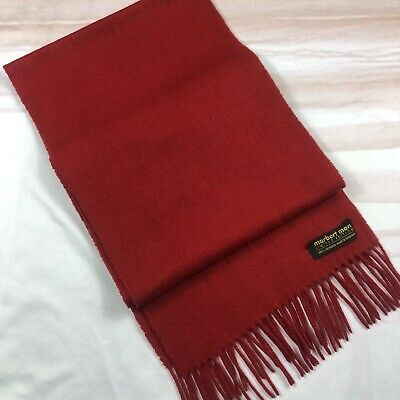 £12.50 • Buy Pure Cashmere  Red Soft Warm Vintage Winter Scarf In Size 62x10