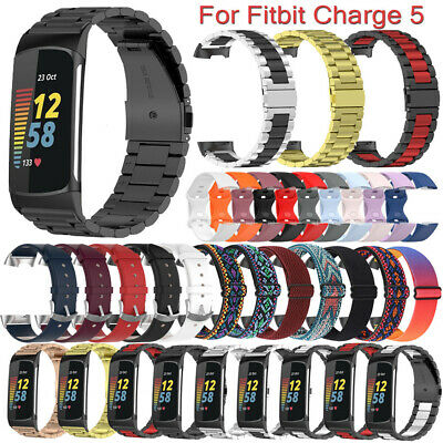 AU16.83 • Buy For Fitbit Charge 5 Stainless Steel/Leather/Nylon/Silicone Band Strap Bracelet