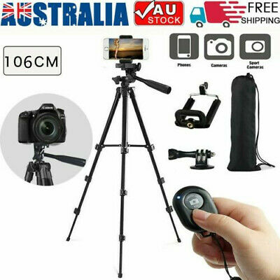 AU19.09 • Buy Professional Camera Tripod Stand Mount Remote + Phone Holder For IPhone Samsung