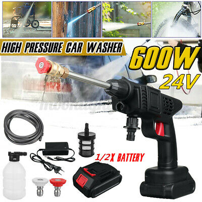 £48.71 • Buy Cordless Pressure Car Washer Electric High Power Jet Wash Patio Cleaner +Battery