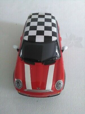 £5 • Buy Scalextric Mini Cooper In Red With Black And White Chequered Roof.