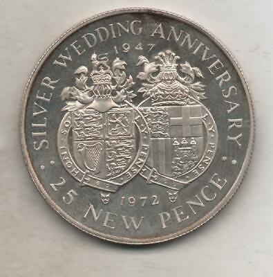 £15 • Buy 1972 Gibraltar 25 New Pence Coin Silver Proof Wedding Anniversary Rare
