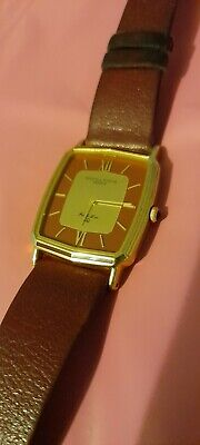 £11 • Buy Unisex, Solvil Et Titus, Square Faced Watch In Burgundy And Gold. Excellent Cndt
