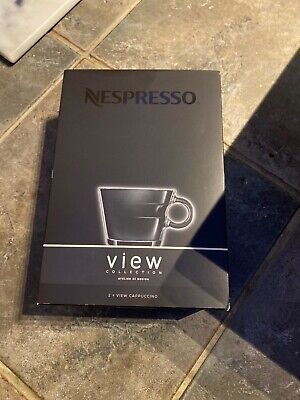 £12.50 • Buy 2 X Nespresso View Modern Cappuccino Cups And Saucers - Brand New In Box