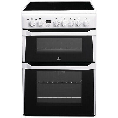 £180 • Buy Indesit 60cm Double Oven Electric Cooker With Ceramic Hob - White