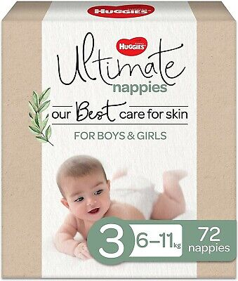 AU39.99 • Buy Huggies Ultimate Nappies Size 3 (6-11kg) 72 Count