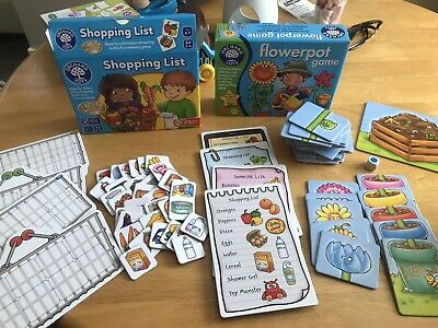 £7 • Buy Orchard Toys Shopping List And Flowerpot Games
