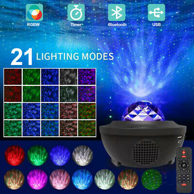 AU10 • Buy LED Night Light Projector Galaxy Starry Ocean Star Sky Baby Room Party Lamp Gift