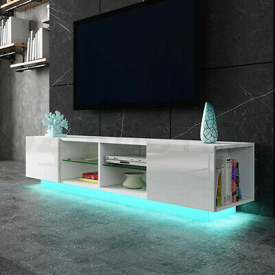 AU199.95 • Buy New TV Stand Cabinet Entertainment Unit LED TV Console Table High Gloss White