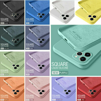 AU10.69 • Buy Square Liquid Silicone Case Soft Cover For IPhone 13 Pro Max 12 11 XS X XR 87 SE