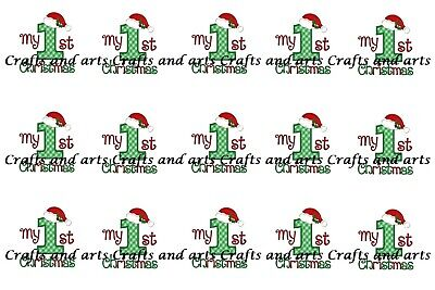 £2 • Buy ✿ 15 Or 30 1  ROUND BABY MY FIRST CHRISTMAS 1ST BOTTLE CAP IMAGES EPOXY DOMES ✿