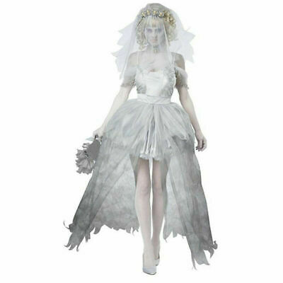 £22.59 • Buy Zombie Bride Costume Womens Ladies Halloween Scary Ghost Fancy Dress Outfit