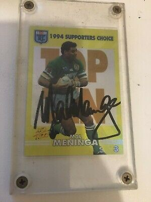 AU150 • Buy 1994 NSW Rugby League Supporters Choice Signature Card Mal Meninga