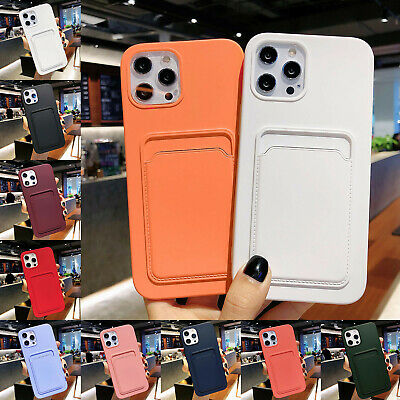 AU11.44 • Buy For IPhone 12 Pro Max 11 XS XR 876 SE Silicone Wallet Card Slot Holder Soft Case