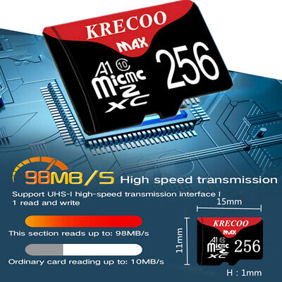 AU3.99 • Buy Micro SD Card Memory Card 256GB 128GB Ultra Fast 4K Class 10 Mobile Phone Tablet