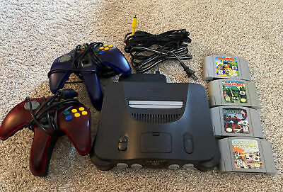 AU109.18 • Buy Nintendo 64 Console, 2 Controllers, 4 Games