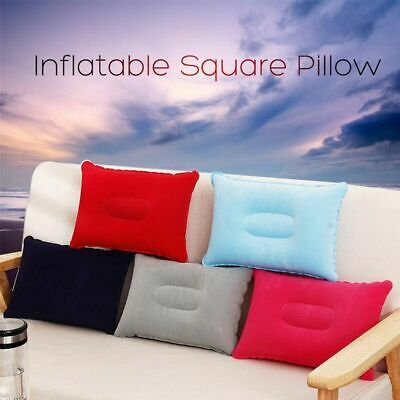 AU3.60 • Buy Car Home Square Hiking Camping Rest Flocking Cushion Inflatable Air Pillow