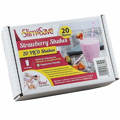 £12.50 • Buy 20 Strawberry Flavour Slim & Save Diet VLCD Shakes - Fast Weight Loss - Ketosis